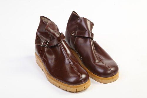 Arbeit Leder Bergschuhe in Boden Schuhe Republik und Tschechische Gummi aus braun 567Bq4