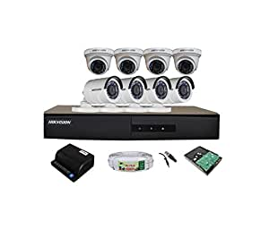 HIKVISION Full HD (2MP) 8 CCTV Cameras & 8Ch.Full HD DVR Kit (All Accessories)