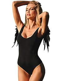 8a712dd59 Mymyguoe Mujeres Biquini de ala de Angel Conjunto de Bikini Traje de baño  Swimwear Playa Bañador Bikini Deportivos…
