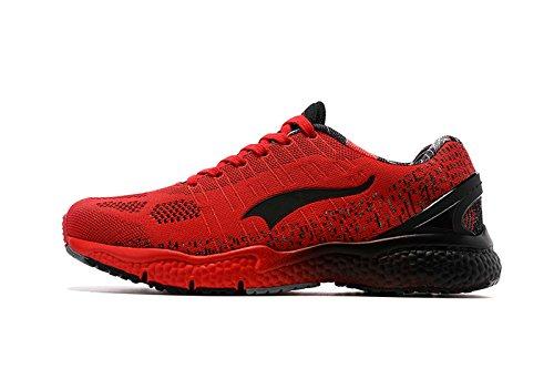 Onemix Herren Damen Leichte Tennisschuhe Für Tennis Mit Dämpfung,Atmungsaktiv Schuhe Trainingsschuhe,Gr 36-45 Rot Schwarz