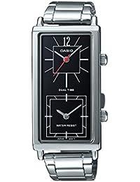 Casio LTP-E151D-1B - Reloj de pulsera para mujer (acero inoxidable,