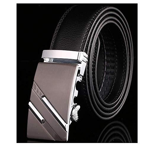 aoliaoyudonggha Men's Male Waist Belts Genuine Leather Riem Cinturon Ceinture Masculino Gold Cummerbund-set
