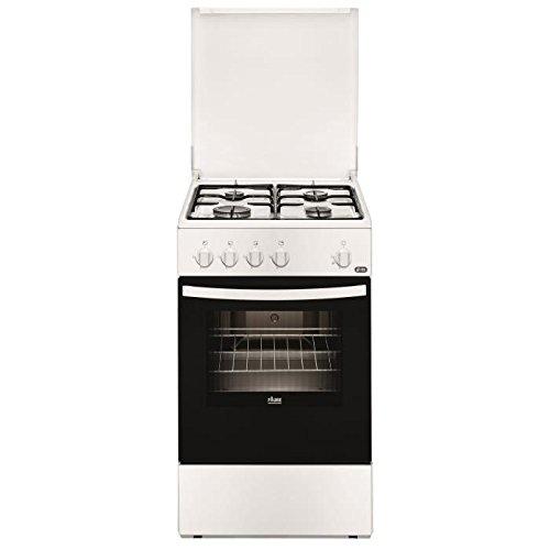Faure FCG510G1WA Cuisinière Cuisinière à gaz Noir, Blanc four et cuisinière - Fours et cuisinières (Cuisinière, Noir, Blanc, Rotatif, Devant, émail, Bas)