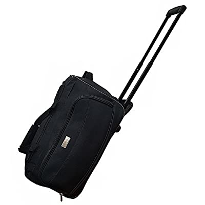 Cabin Size Roller Travel Bag Duffel Bag Hand Luggage Wheeled Trolley Holdall Duffle Wheely Carry Bag With Wheels Light Weekend Lightweight Overnight Bag With Wheels