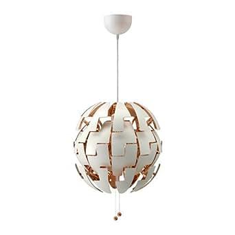 IKEA plus tard en 2014, PS Lampe suspension Blanc, couleur de cuivre