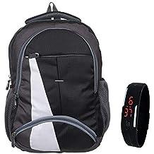 BLUTECH Waterproof,Laptop College School Bag for Boys+ Free Black LED