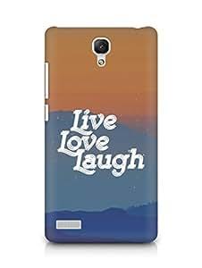Amez Live Love Laugh Back Cover For Xiaomi Redmi Note