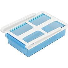 Frigorifero contenitore , feiXIANG Frigorifero Slide freezer Organizer frigorifero scaffale rack cassetto (blu)