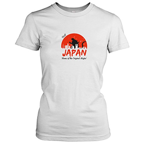 TEXLAB - Visit Japan - Damen T-Shirt, Größe XL, weiß (Godzilla Collection Blu-ray)