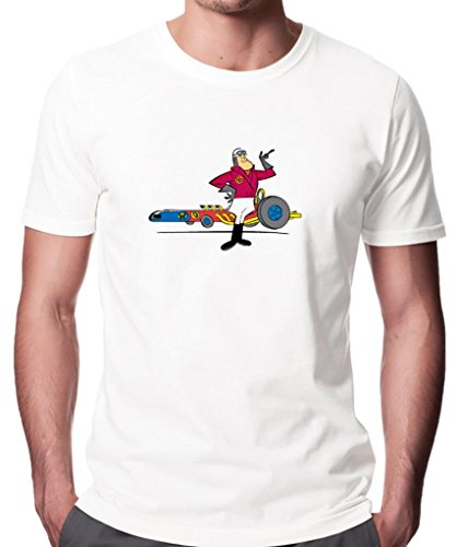 Wacky Races Peter Perfect Men's Heavyweight T-Shirt. White