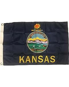 Große New 3x 5Kansas State Flagge US USA American Flaggen