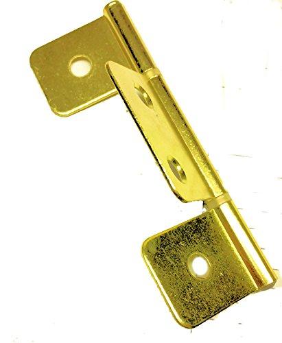 Eine Tür Curio (Flagge Drei Blatt Messing Scharnier Falttür & Shutter 31/5,1cm-2pc/Pack Schrank Möbel Reproduktion Wiederherstellung Hardware + Gratis Bonus (Skelett Schlüssel Badge) dl-h545-350BP)