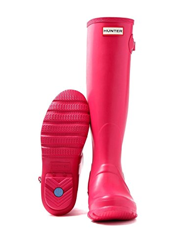 Hunter Original Tall Damen Stiefel Blau Leuchtend Rosa