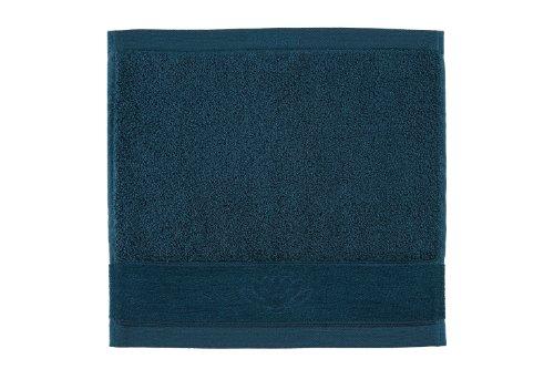 Vossen Asia Energy Serviette essuie-mains Bleu pétrole 30 x 30 cm