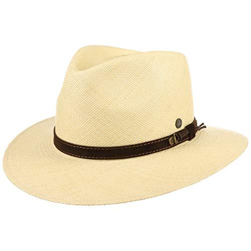 Lierys The Striking Traveller Panamahut Herren   Hut aus 100% Panamastroh   Handmade in Ecuador   Herrenhut XXL (63-64 cm)   Strohhut mit Ledergarnitur