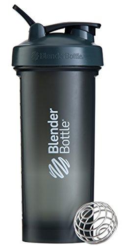Blender Bottle Pro45 Protein Shaker / Wasserflasche / Sportflasche (1300 ml Fassungsvermögen, skaliert bis 1000ml) Grau/Weiß