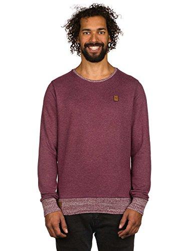 Herren Sweater Naketano Geschichtenerzähler Sweater Bordeaux Melange