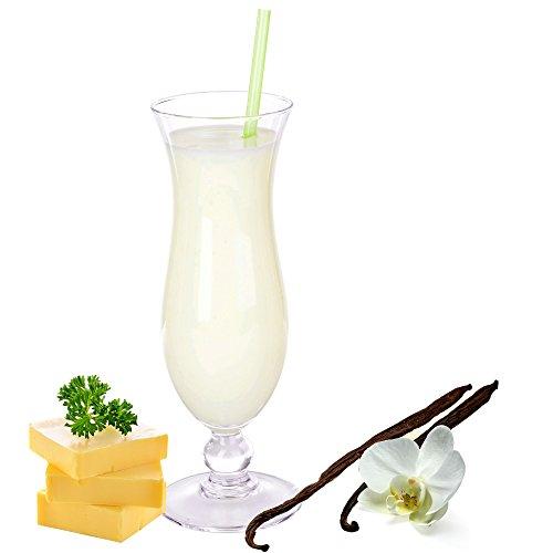 Butter Vanille Geschmack Eiweißpulver Milch Proteinpulver Whey Protein Eiweiß L-Carnitin angereichert Eiweißkonzentrat für Proteinshakes Eiweißshakes Aspartamfrei (200 g)