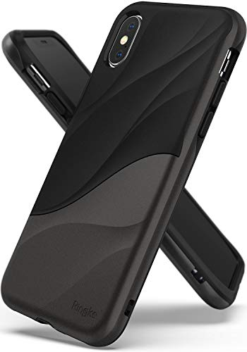 Ringke WAVE Custodia Compatibile con Apple iPhone XS, Salvaguardia Dello Strato TPU interno Morbido, Custodia Rigida per PC Pesante Assorbimento Design Fluente del Movimento Cover iPhone XS 5.8' 2018 - Metallic Chrome