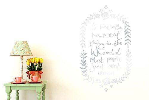 de zu Leben ist das seltenste Sache der Welt FLORAL Wand Sticker Kunst Aufkleber-Groß (Höhe 95cm x Breite 57cm) (glänzend) Remasuri ()