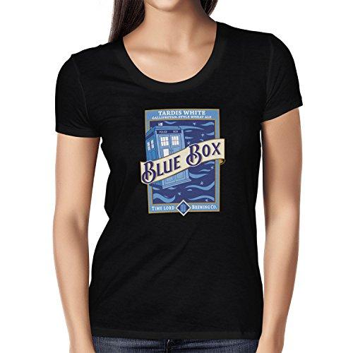 TEXLAB - Blue Box White Ale - Damen T-Shirt Schwarz