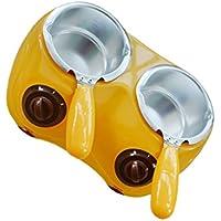 Fuentes de Chocolate Fondue de Horno Caldera de Fusión de Queso Calentador Eléctrica Crisol Bricolaje - Amarillo, 27x19.5x8cm