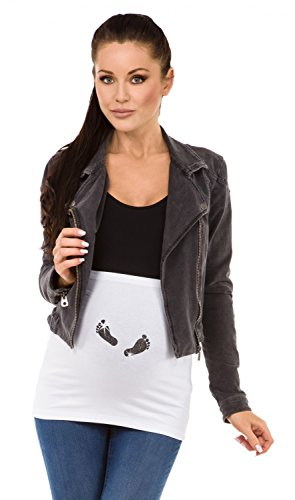 Zeta Ville - Maternité Bandeau de grossesse scintiller imprimé - femme - 009c Blanc