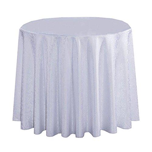 LSHEL Einfache hochwertige Doppeldecker Classic Floral Hotel Tischdecke Runde Tischdecke Tisch Rock quadratische Tischdecke, Weiß, Runde 2.2m
