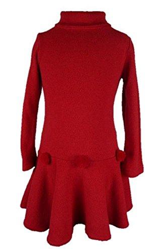 Trocadero Kindermode Winter Strickkleid Mädchen Rot handgemacht in Deutschland