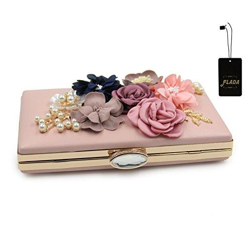 Flada, Poschette giorno donna oro Gold 1 medium Light Pink