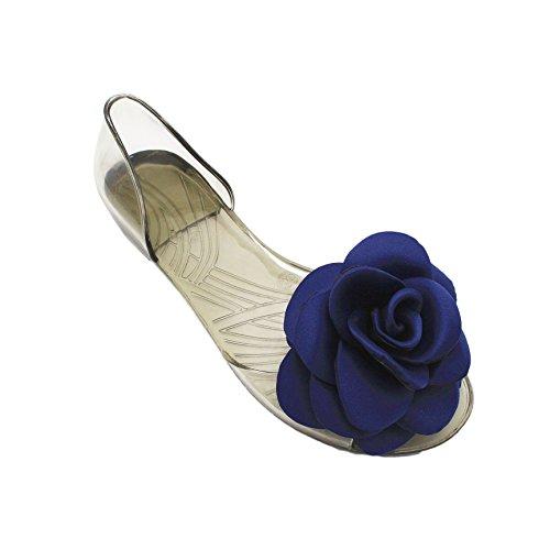 bocca di pesce scarpe estate i sandali sono scarpe trasparente jelly jelly fish raso bocca le scarpe 37