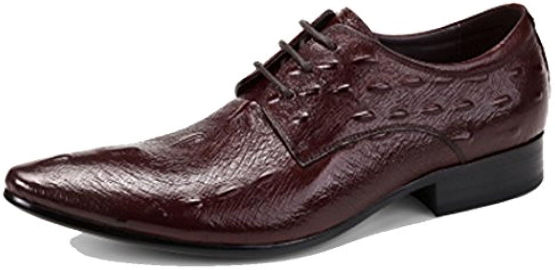 GAOLIXIA Herren Echtes Leder Business Schuhe Formale Kleid Schuhe Sommer Britischen Freizeitschuhe Hochzeit Bankett