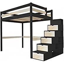 lit mezzanine 2 places. Black Bedroom Furniture Sets. Home Design Ideas