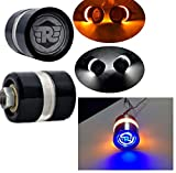 #3: Aow Attractive Offer World Handle Bar End Dual Led Bike Turn Signal Indicator Light (Blue) For Royal Enfield Classic