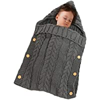 Manta para bebé de lana gruesa para dormir, suave y cálida, manta para bebé recién nacido, manta para niñas, niños, sacos de dormir, saco de dormir