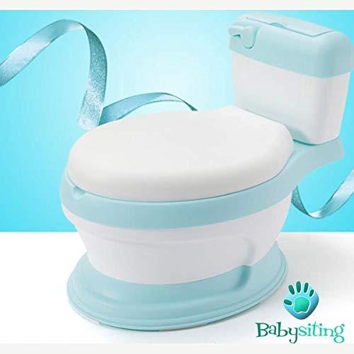 Baby toilette di colore blu per bambini, bambine, baby, baby, apprendimento con tappetino antiscivolo