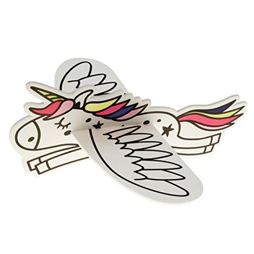 JT Flying Unicorns Gleitflugzeuge Set - Neuheit für den Kindergeburtstag - Fliegendes Einhorn - Styropor-Flieger - einzeln verpackt - für Tombola Schultüte Mitgebsel Überraschung (12er Set)