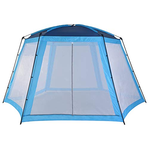 vidaXL Carpa para Piscinas Accesorios para Jardín Terraza Patio Exterior Aire Libre Piscina SPA Jacuzzi Protección Refugio Sombra 500x433x250cm Azul