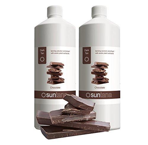2000ml (2 x 1000ml) Suntana Chocolat foncé 12% DHA Spray Tan Solution