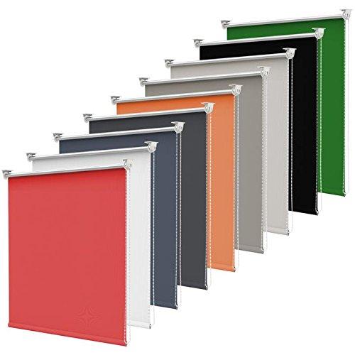 Grandekor Estor Enrollable Translúcido Cortinas Persianas Klemmfix Fácil de Instalar de Ventanas Easy Fix Gris 70 x 170 cm