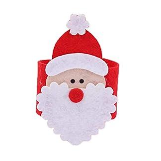 Hanxin 4 Los titulares de Tejido Pcs Santa Claus Anillos de servilleta de Tela Hebillas Fiesta de Navidad Vajilla Decoración