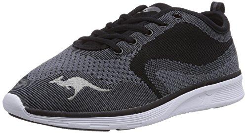 KangaROOS K- Light 8004, Unisex-Erwachsene Sneakers Schwarz (black/mid grey 523)