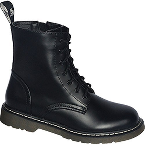 Knightsbridge 7 Loch Stiefel Dark Creationz Springertstiefel UK Gothic Boots verschiedene Farben 37-46 Schwarz