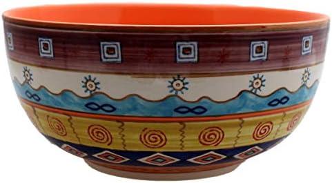 Gall&Zick - Insalatiera in Dipinta Ceramica, Dipinta in a Mano, arancia, Grande 805c1f