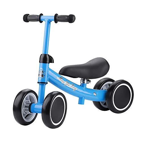 Cocoarm Kinder Laufrad Spielzeug Kleinkind Dreiräder Balance Roller Balance Training Mini Bike Erst Fahrrad für Jungen Mädchen 1-2 Jahre Alt (Blau)