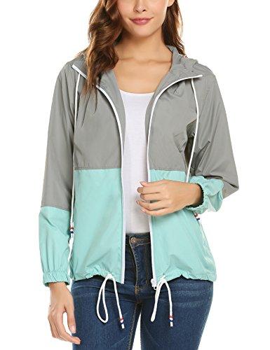 Damen Jacke Wasserdicht Winddicht Regenjacke Regenmantel Damen Outdoor Jacke für Damen Kapuzenjacke Wasserfeste
