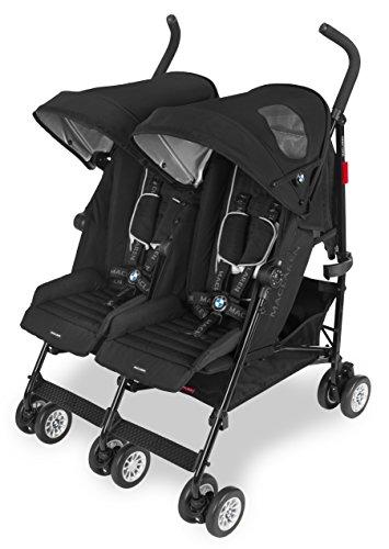 Maclaren BMW - Carrito gemelar, color negro