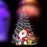 LCXYYY Fensterfolie Weihnachten Schneeflocken Fensterbilder Statisch Haftende PVC-Sticker Weihnachten Fensterdeko Aufkleber WandtattooFensteraufkleber Weihnachten Weihanchtsbaum