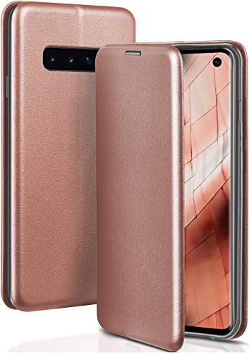ONEFLOW Samsung Galaxy S10 | Hülle Rose-Gold mit Karten-Fach 360° Business Klapp-Hülle Handytasche Kunst-Leder Handyhülle für Samsung Galaxy S10 Flip Case Cover Tasche Schutzhülle - Leder Taschen Business Card Case