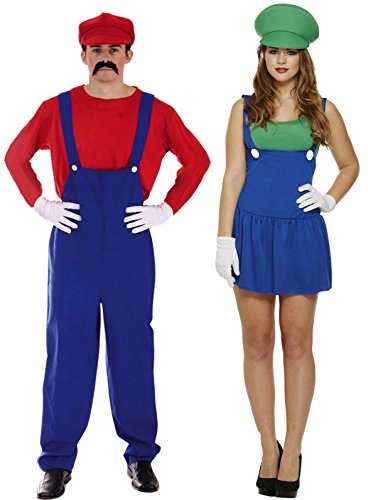 Couples Mario and Luigi Costume Set